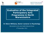 evaluation of the integrated participatory arts programme in north warwickshire