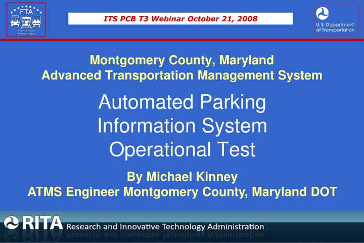 montgomery county maryland advanced transportation management system n.