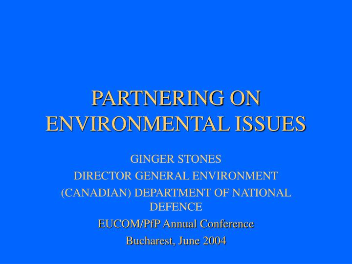partnering on environmental issues n.