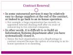 contract renewal