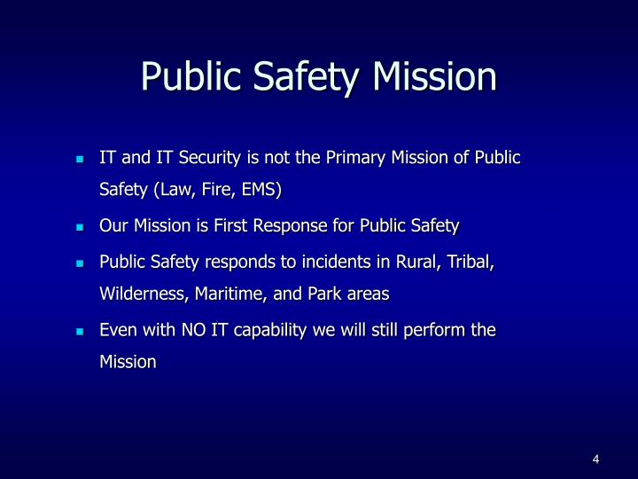 Public Safety Mission