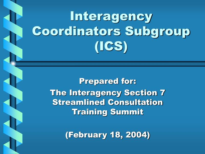 interagency coordinators subgroup ics n.