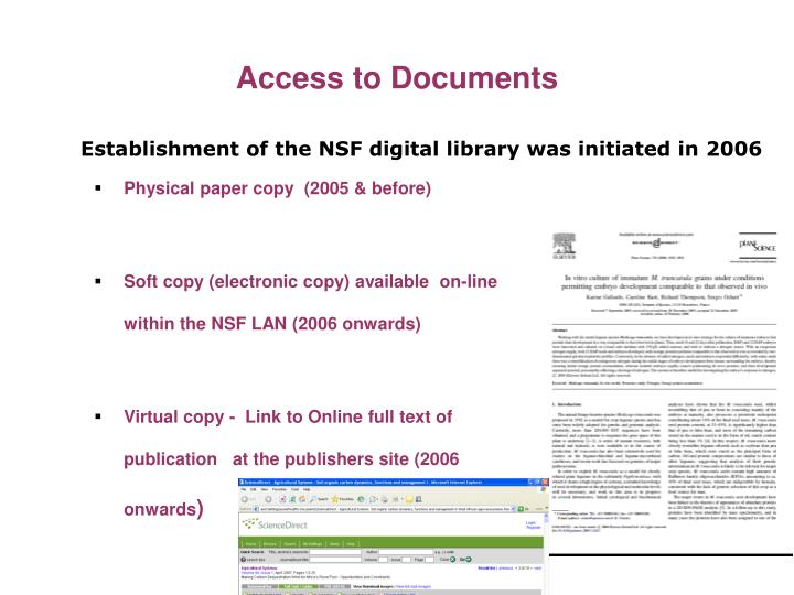 Access to Documents