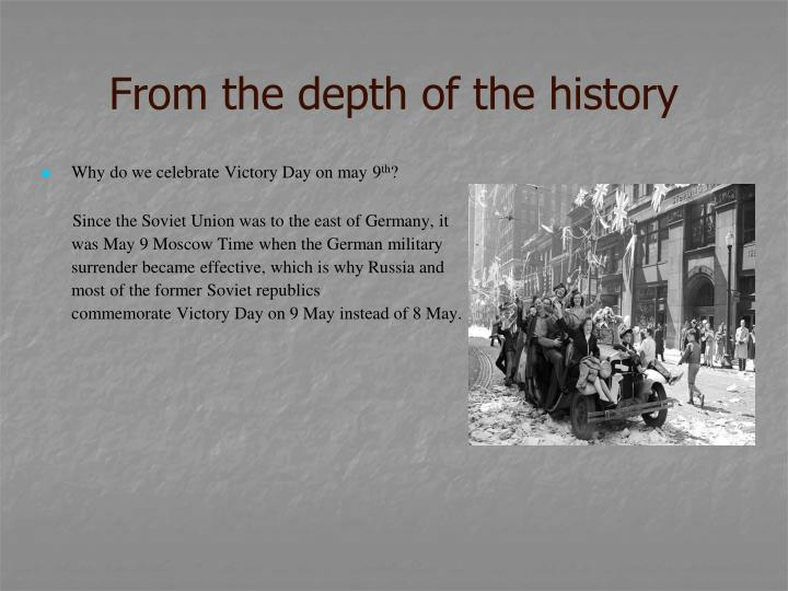 From the depth of the history1