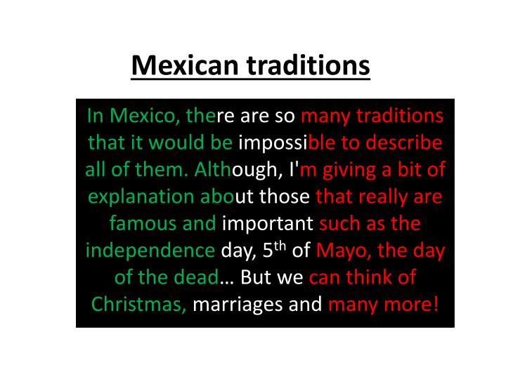 mexican traditions n.