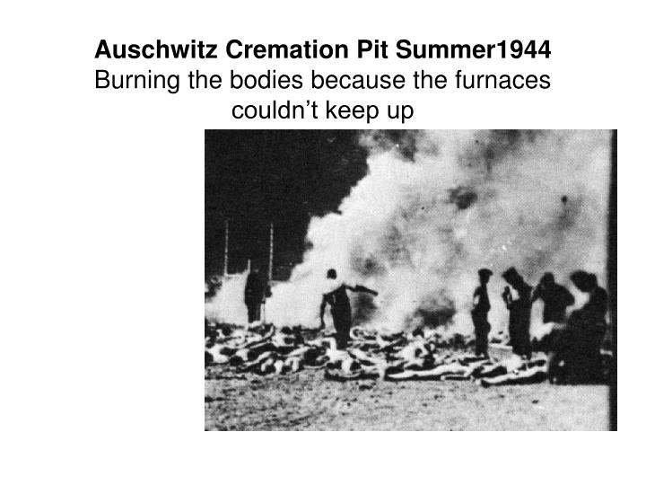 Auschwitz Cremation Pit Summer1944