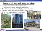 lessons learned afghanistan