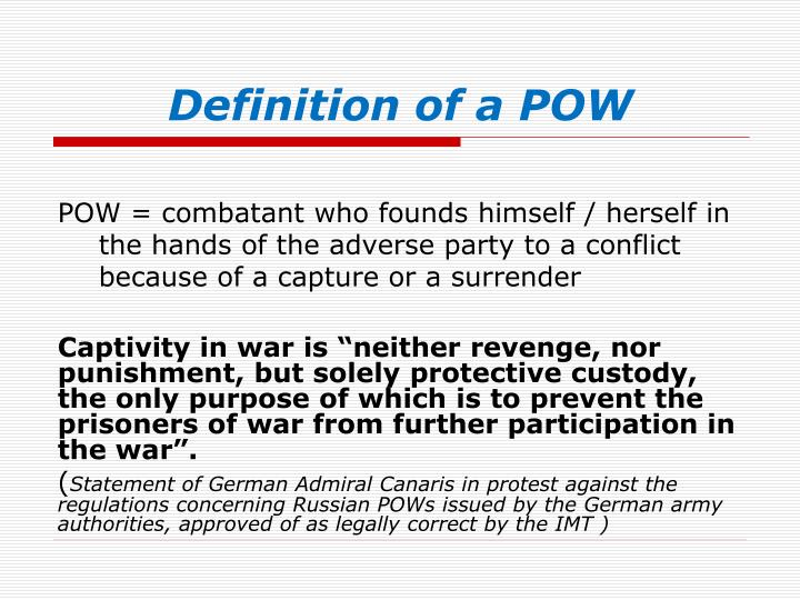 Definition of a pow