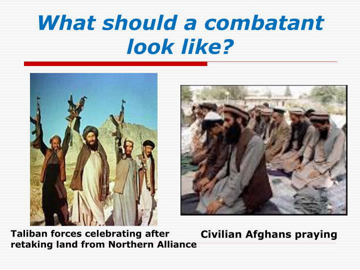 What should a combatant look like?