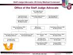 office of the staff judge advocate