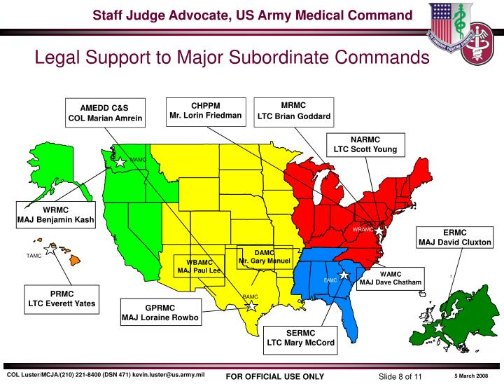 Legal Support to Major Subordinate Commands