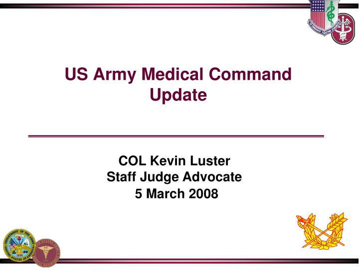 us army medical command update n.