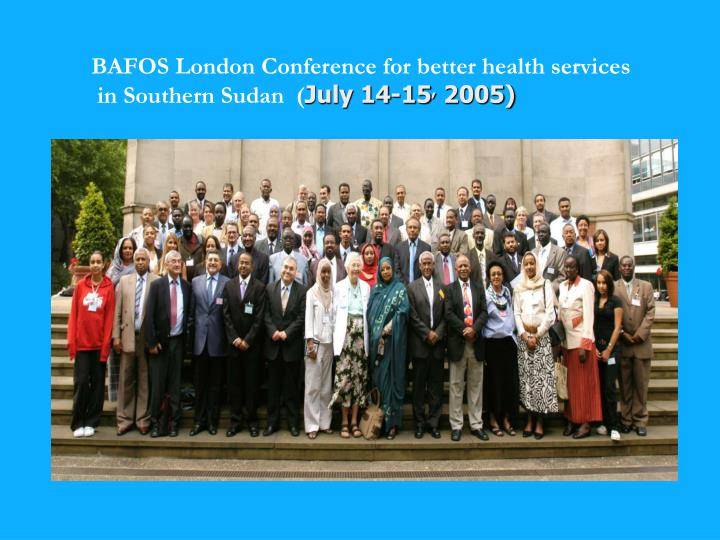 BAFOS London Conference for better health services