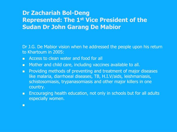 Dr Zachariah