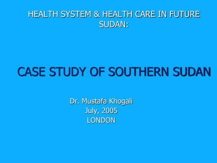 HEALTH SYSTEM & HEALTH CARE IN FUTURE