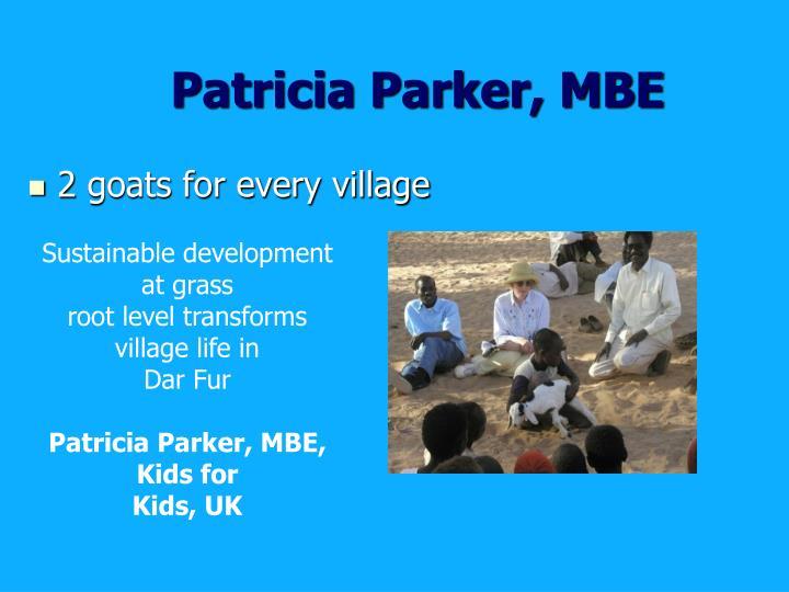 Patricia Parker, MBE
