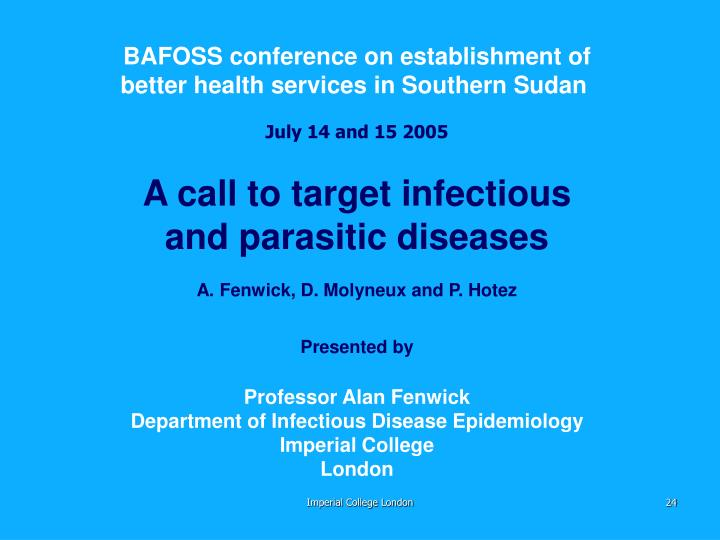 BAFOSS conference on establishment of