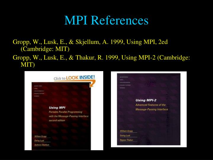 MPI References