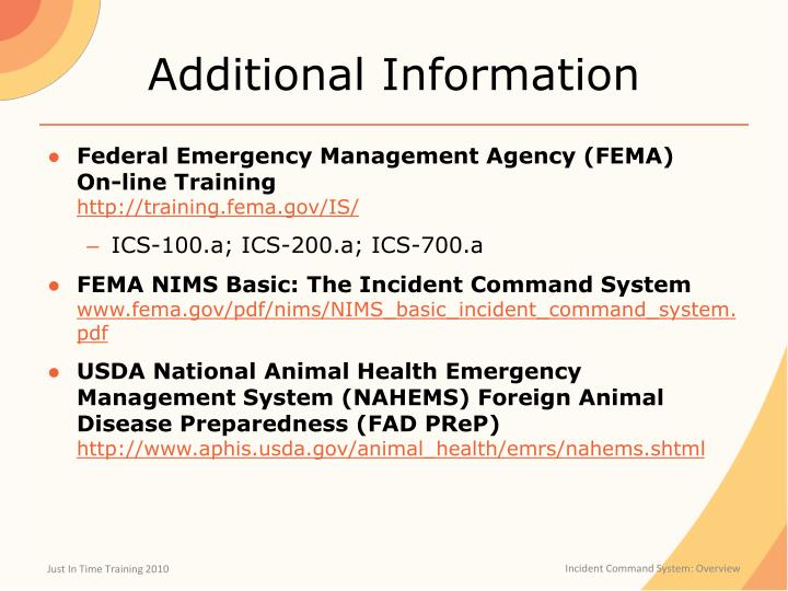 edmg230 fema ics Part 1 of 1 - 1000 points question 1 of 10 100 points the incident command system (ics) is a tool for: acommand, control, and coordination at an incident binteragency responses only cmulti-jurisdictional responses only dresponses involving first-response.