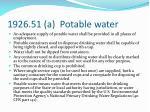 1926 51 a potable water