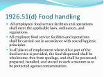 1926 51 d food handling