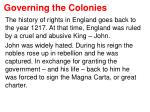 governing the colonies1