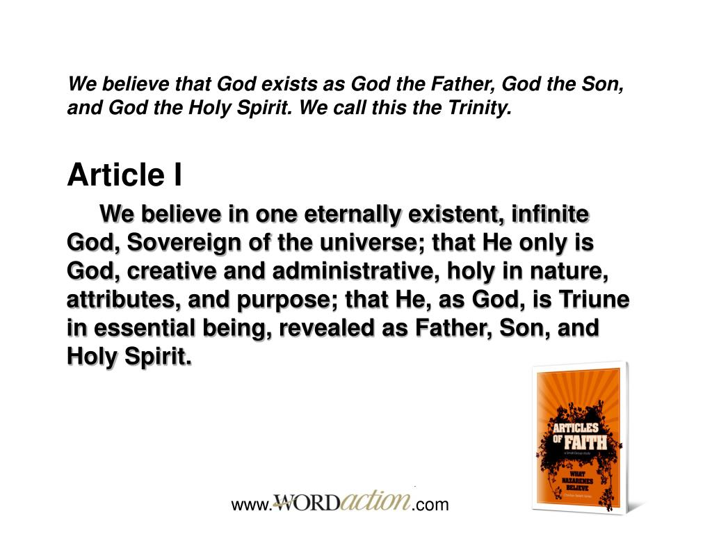 PPT - Articles of Faith What Nazarenes Believe PowerPoint