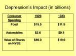 depression s impact in billions