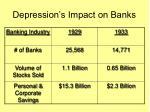 depression s impact on banks