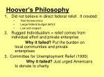 hoover s philosophy