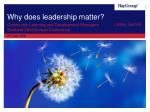 why does leadership matter