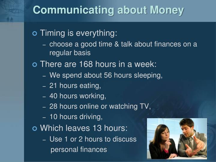 Communicating about Money
