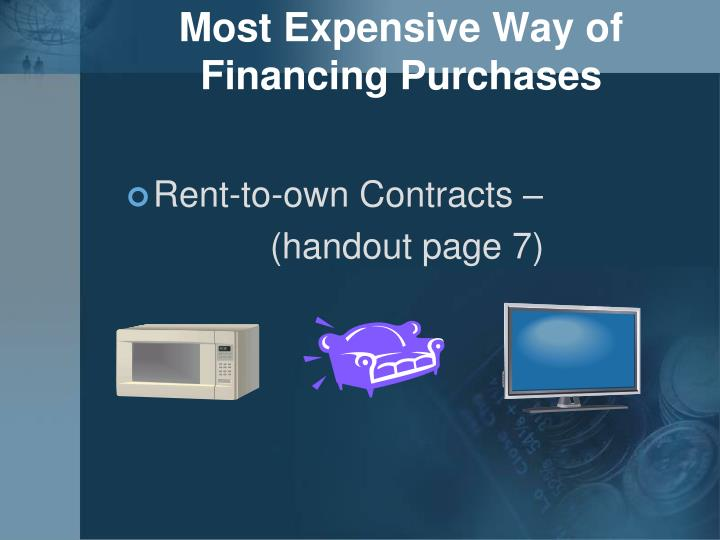 Most Expensive Way of Financing Purchases