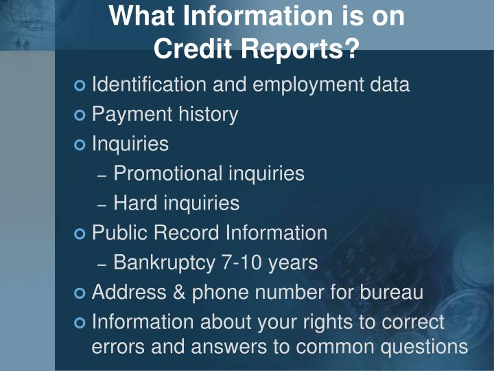 What Information is on