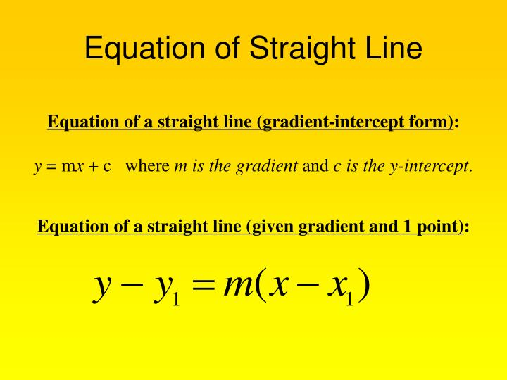 equation of straight line n.