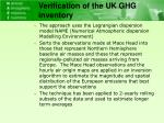 verification of the uk ghg inventory