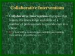 collaborative interventions