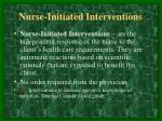 nurse initiated interventions