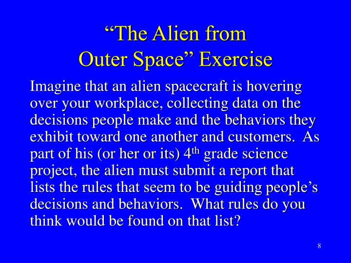 """""""The Alien from"""