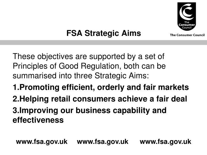 FSA Strategic Aims