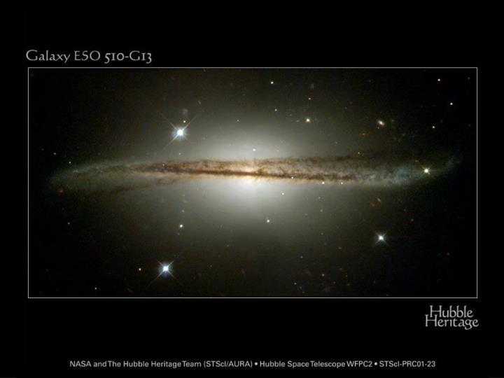 Galaxy with dust lane