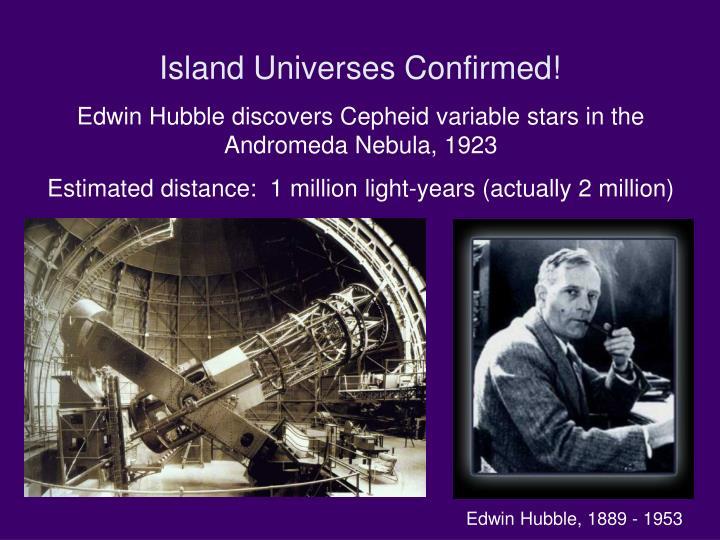 Island Universes Confirmed!