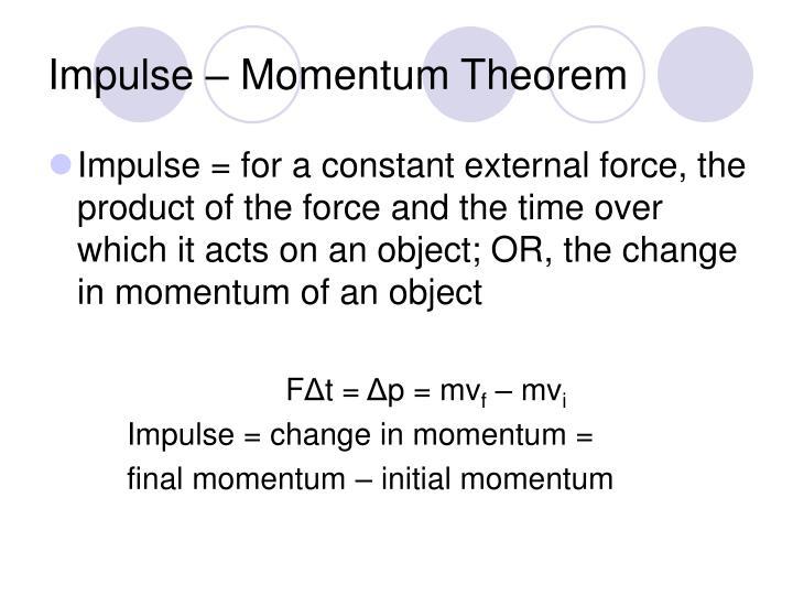 Impulse – Momentum Theorem