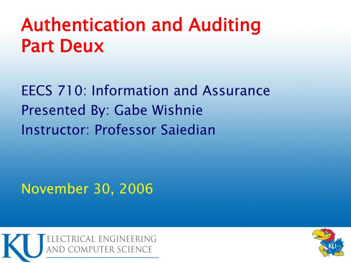 authentication and auditing part deux n.