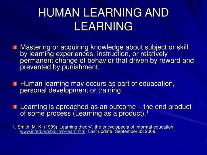 Human learning and learning