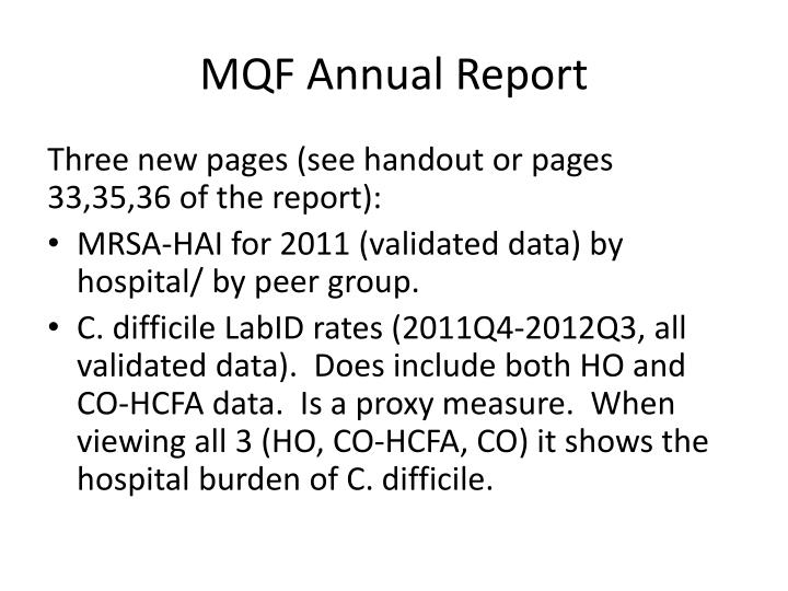 MQF Annual Report