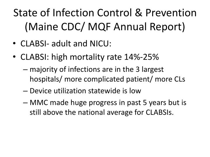 State of Infection Control & Prevention