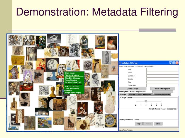 Demonstration: Metadata Filtering