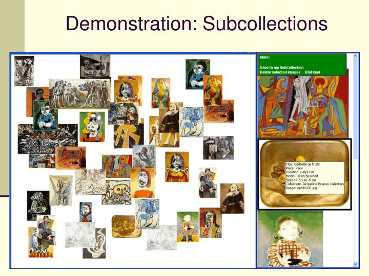 Demonstration: Subcollections