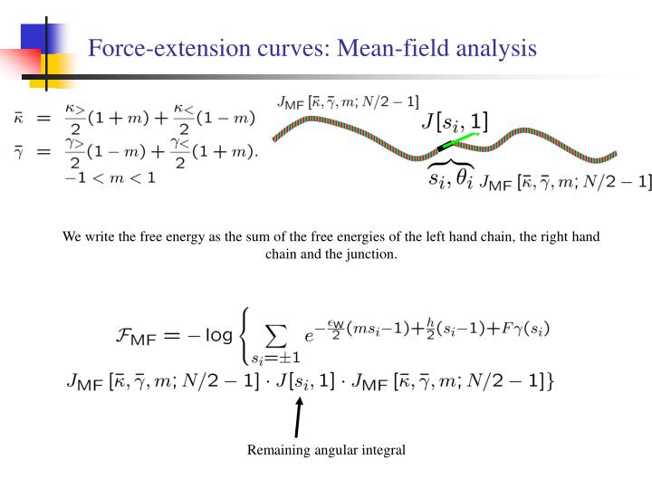 Force-extension curves: Mean-field analysis
